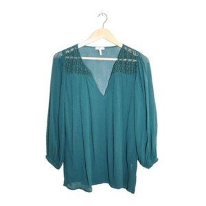 3/$45 - Joie Split V-neck Long Sleeve Sheer Blouse